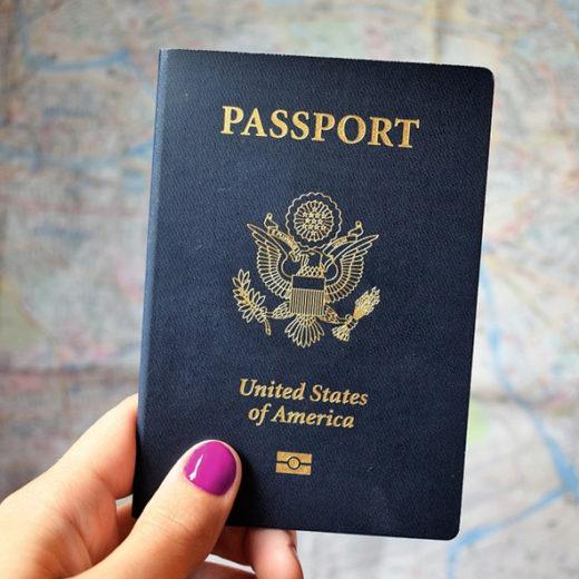 Passport held in hand